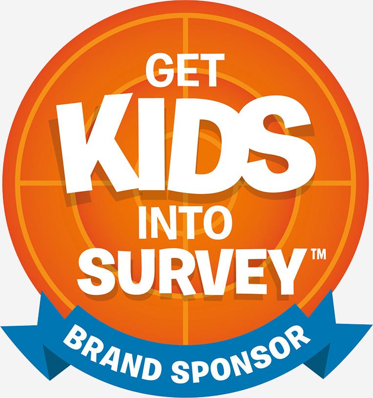 Get kids into survey brand sposors